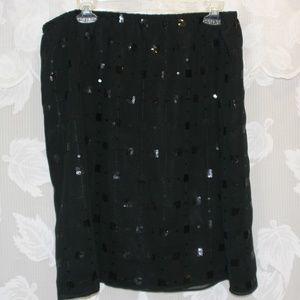 Donna Rico Black Sequined Skirt